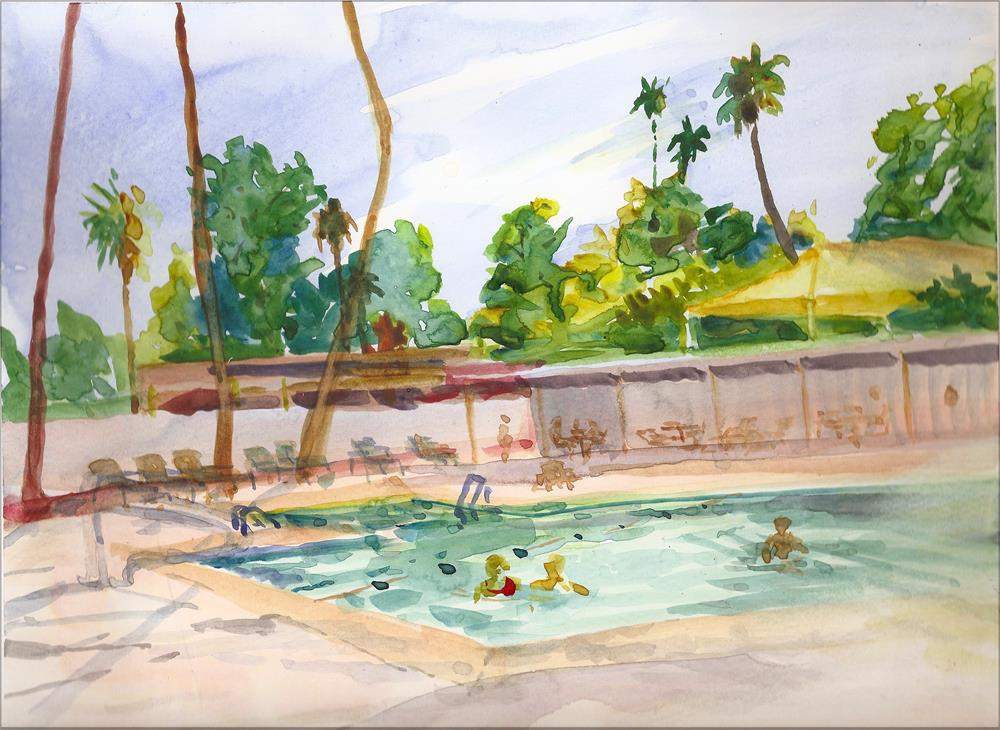 """Fairway Rec Center, Sun City AZ"" original fine art by Jean Krueger"