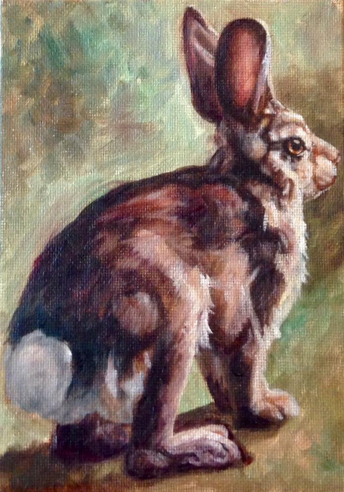 """Bunny Get Away (c) by Joye DeeGoede"" original fine art by Joye DeGoede"