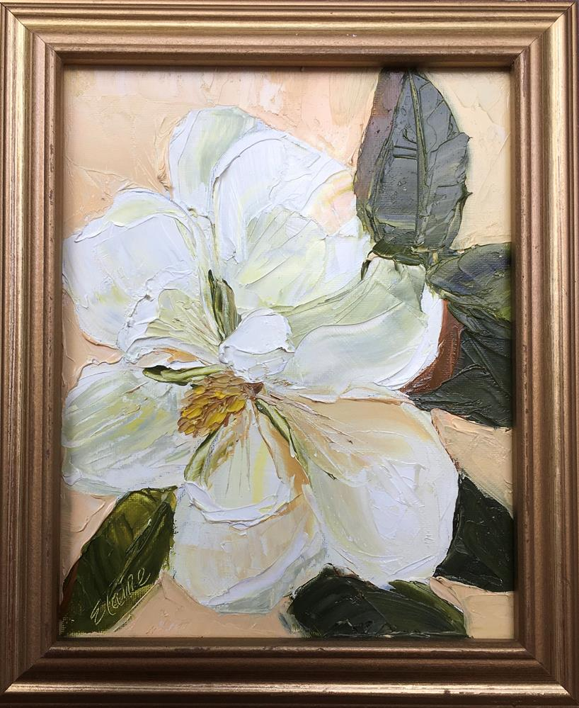 """Posing Magnolia"" original fine art by Elaine Ford"