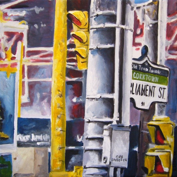 """0041 Parliament Street"" original fine art by Dietmar Stiller"
