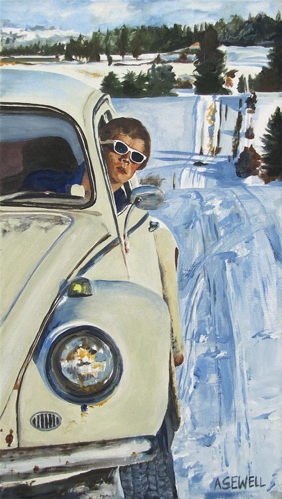 """Josh and his Bug"" original fine art by Andy Sewell"
