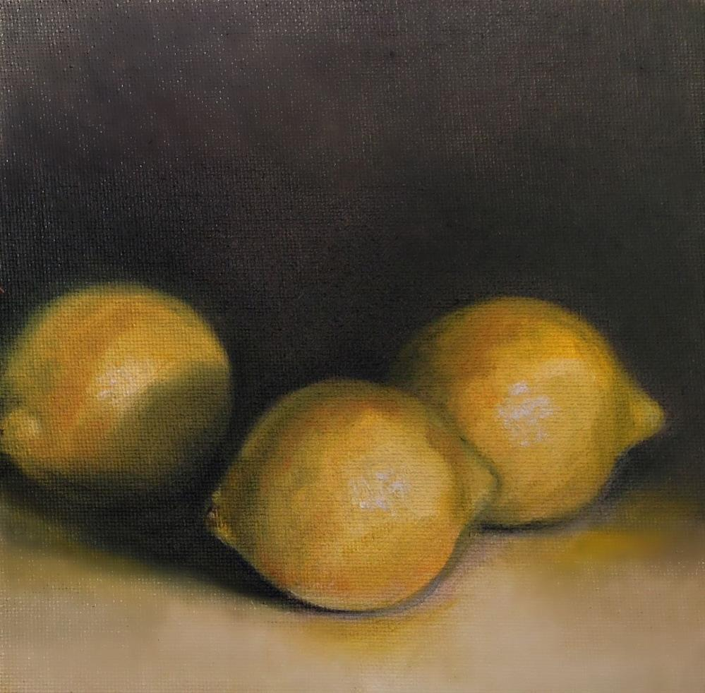 """Lemons For My Water"" original fine art by Beth Moreau"