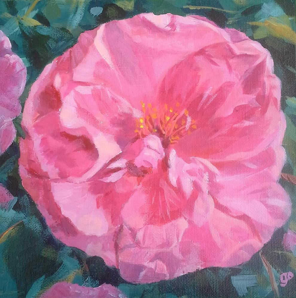"""Camellia"" original fine art by Leanne Owen"