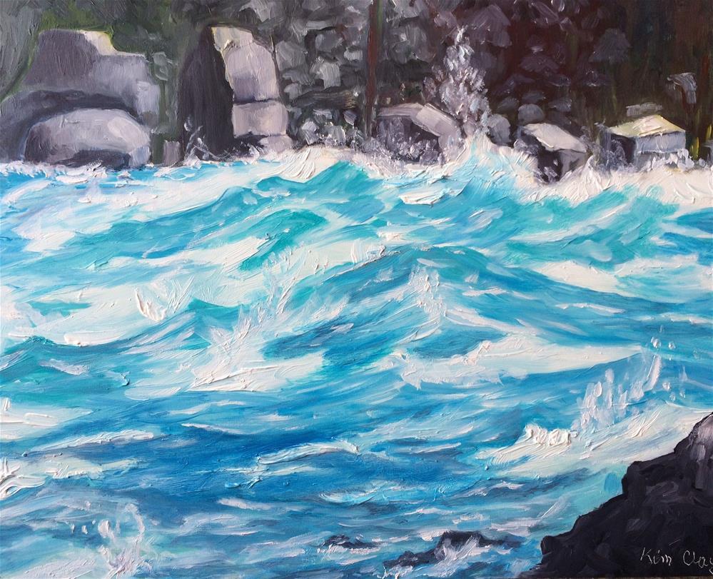 """Niagara Falls Rapids"" original fine art by Kim Clay"