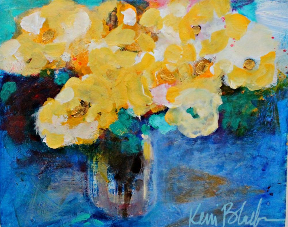 """Yellow Roses "" original fine art by Kerri Blackman"