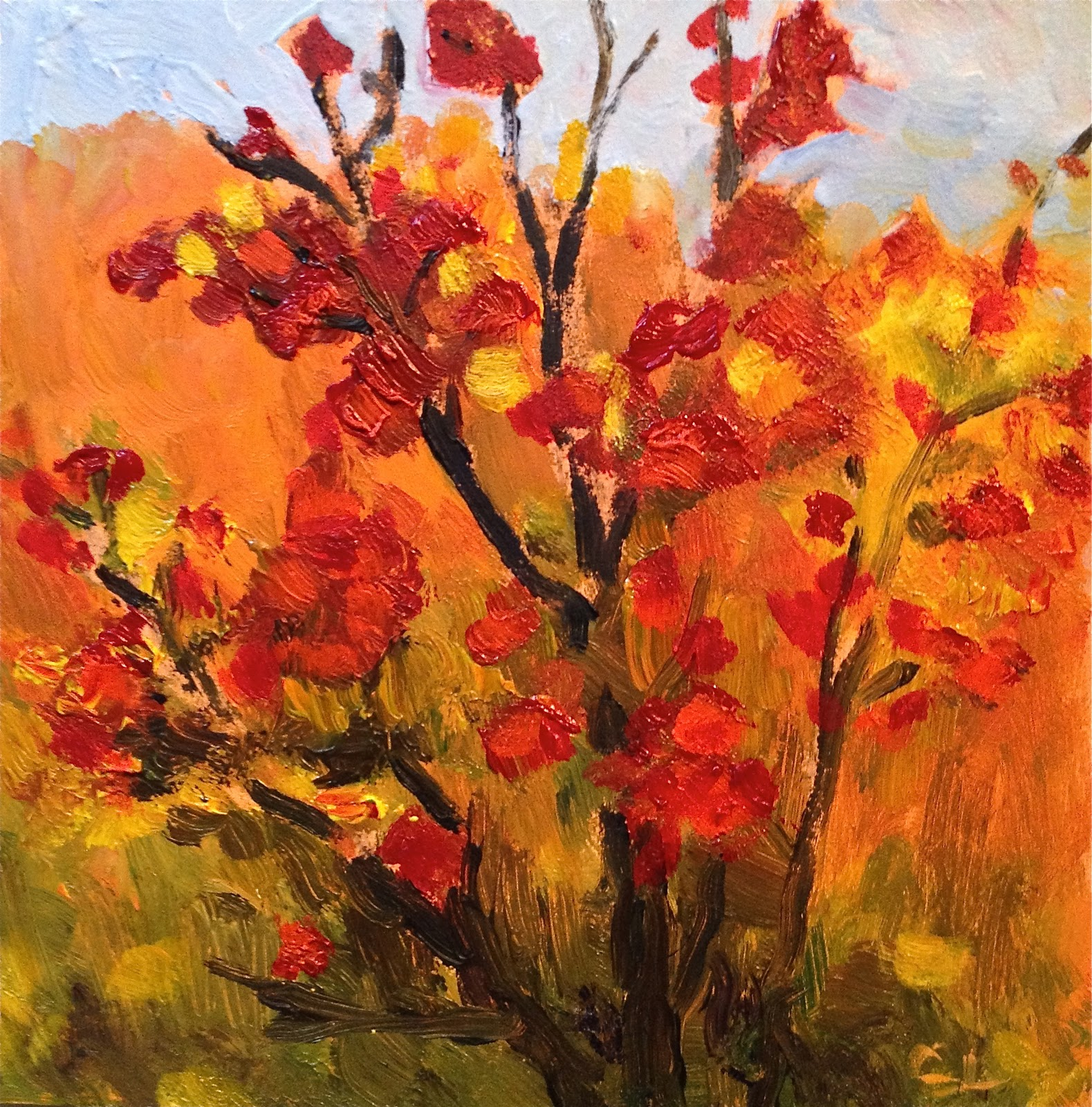 """Bush Fire"" original fine art by Ceci Lam"
