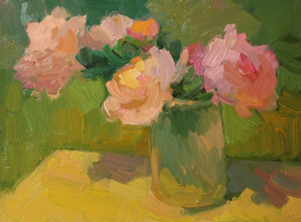 """""""Roses on the Deck"""" original fine art by Kathryn Townsend"""