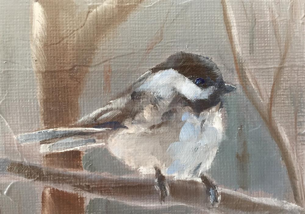 """Chickadee"" original fine art by Gary Bruton"