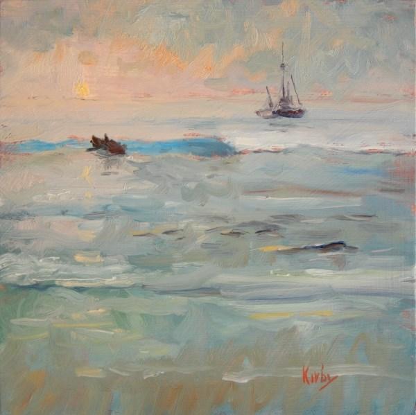 """Morning Row"" original fine art by Randall Cogburn"