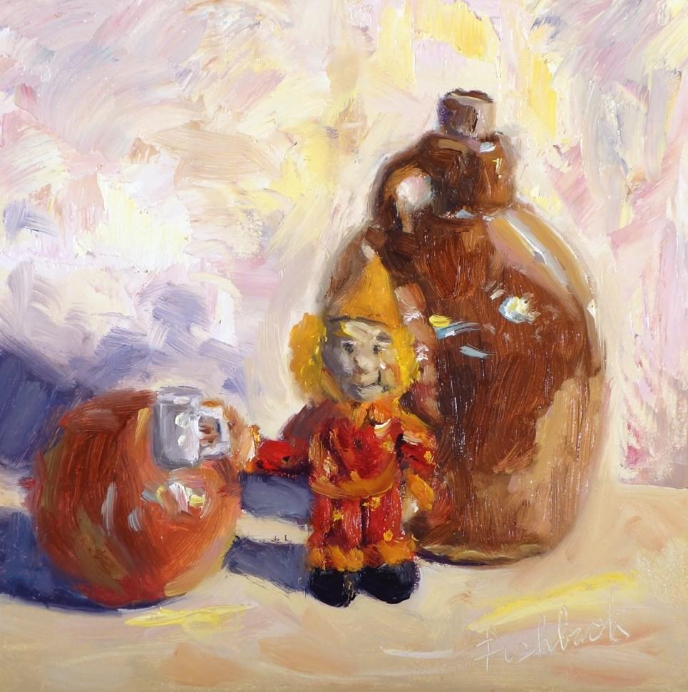 """Happy Clown"" original fine art by Daniel Fishback"