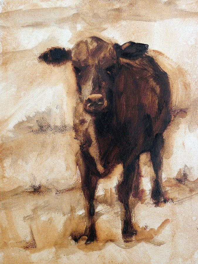 """Staring Me Down"" original fine art by Adam Houston"