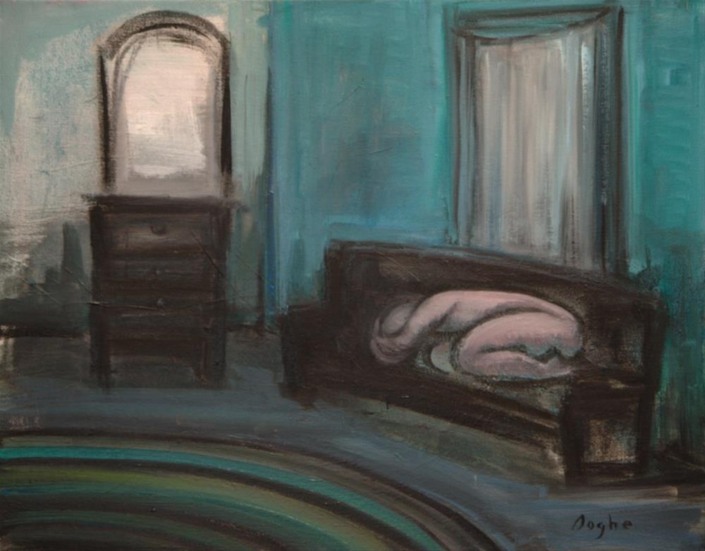 """Resting in a Green Room"" original fine art by Angela Ooghe"