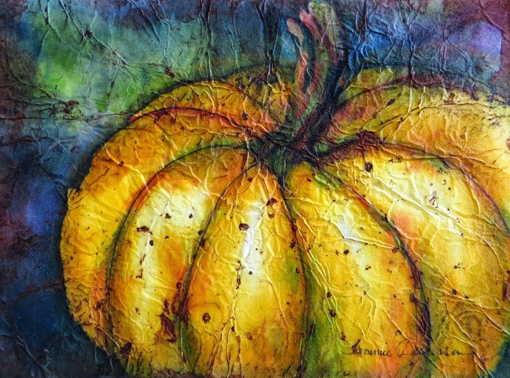 """Pumpkin Batik"" original fine art by Tammie Dickerson"