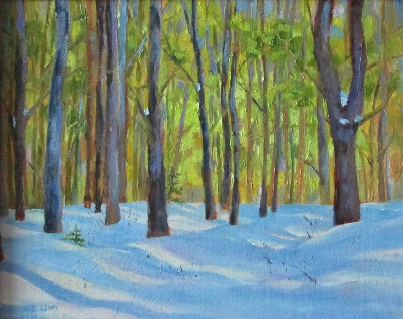 """""""Winter Warmth"""" original fine art by Christine Lewis"""
