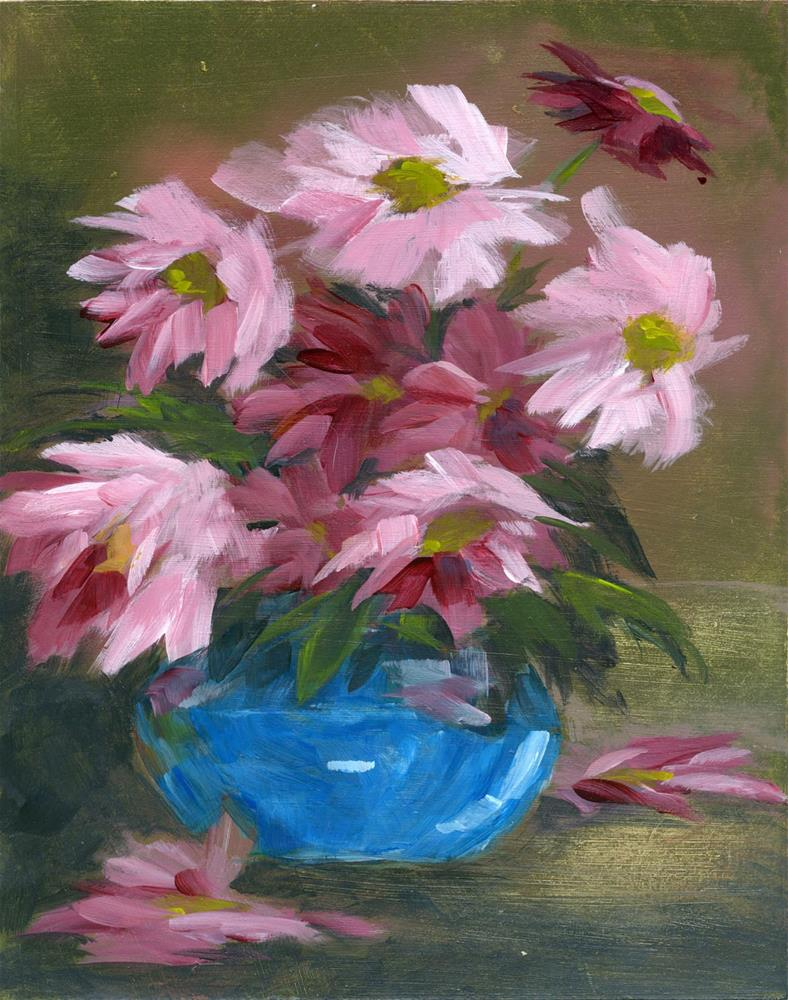 """Pink Flowers"" original fine art by Eileen Hennemann"