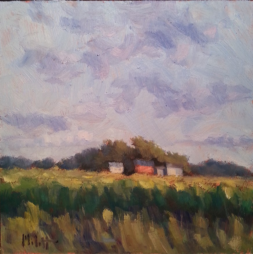 """Contemporary Artwork Farm Landscape Original Oil Painting"" original fine art by Heidi Malott"