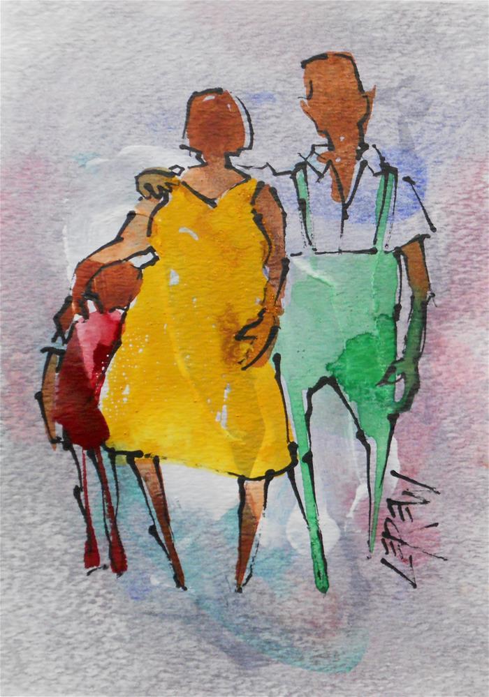 """""""Serendipity Blot Figure #140202 by Larry Lerew"""" original fine art by Larry Lerew"""