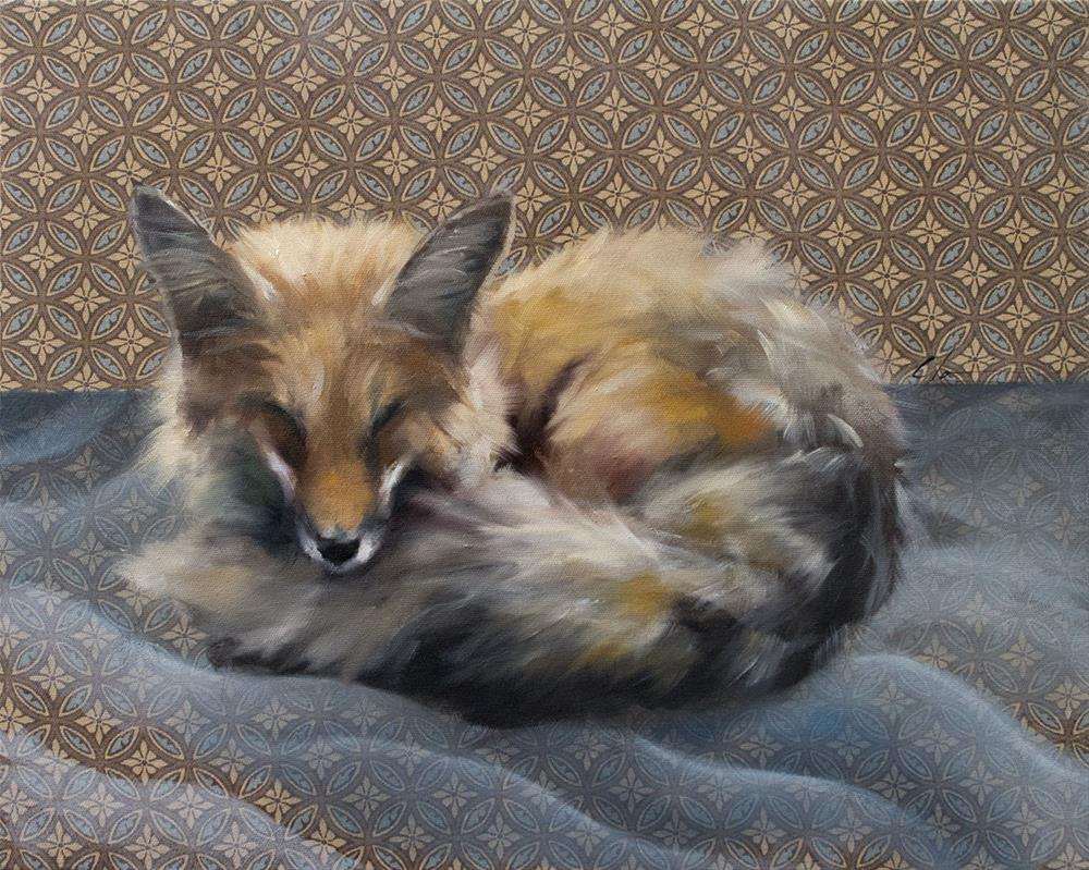 """Fox Dreams"" original fine art by Clair Hartmann"