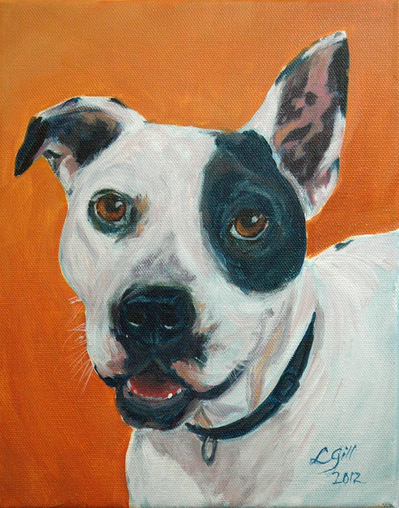 """Sammie Smiles!"" original fine art by Lyn Gill"