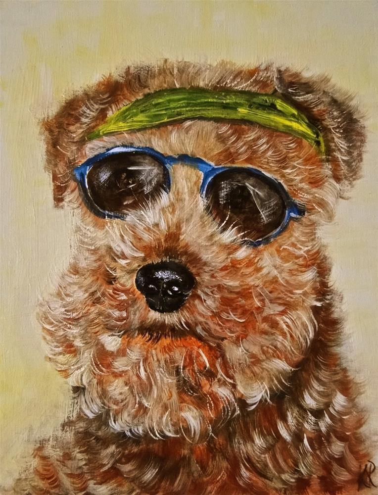 """""""Cool Dude"""" original fine art by Karen Robinson"""