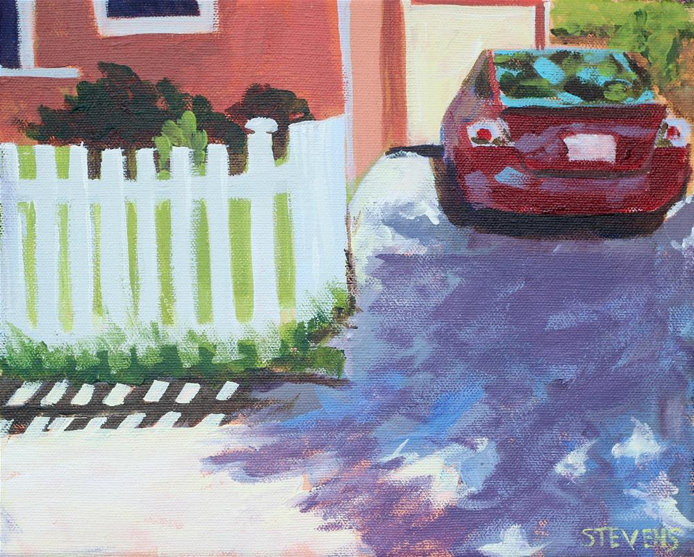 """White Picket Fence Challenge"" original fine art by Jamie Stevens"