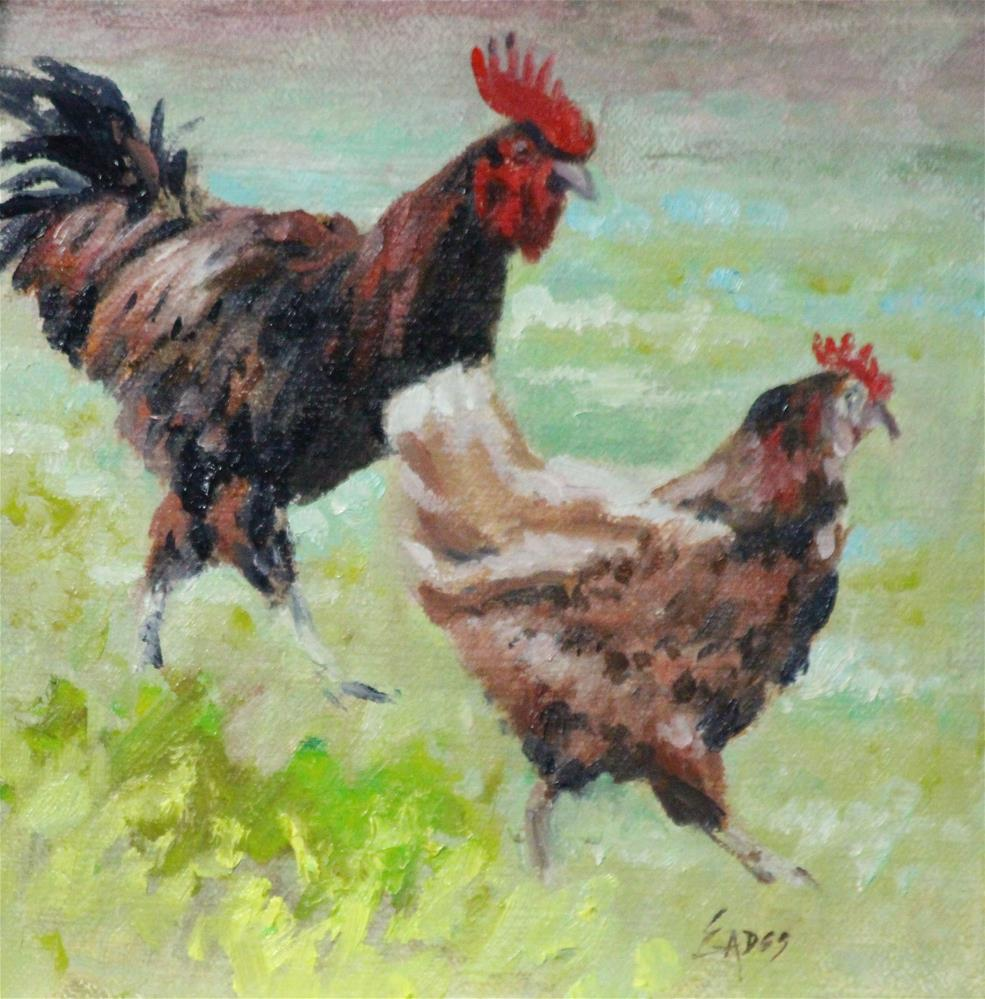 """Courting"" original fine art by Linda Eades Blackburn"