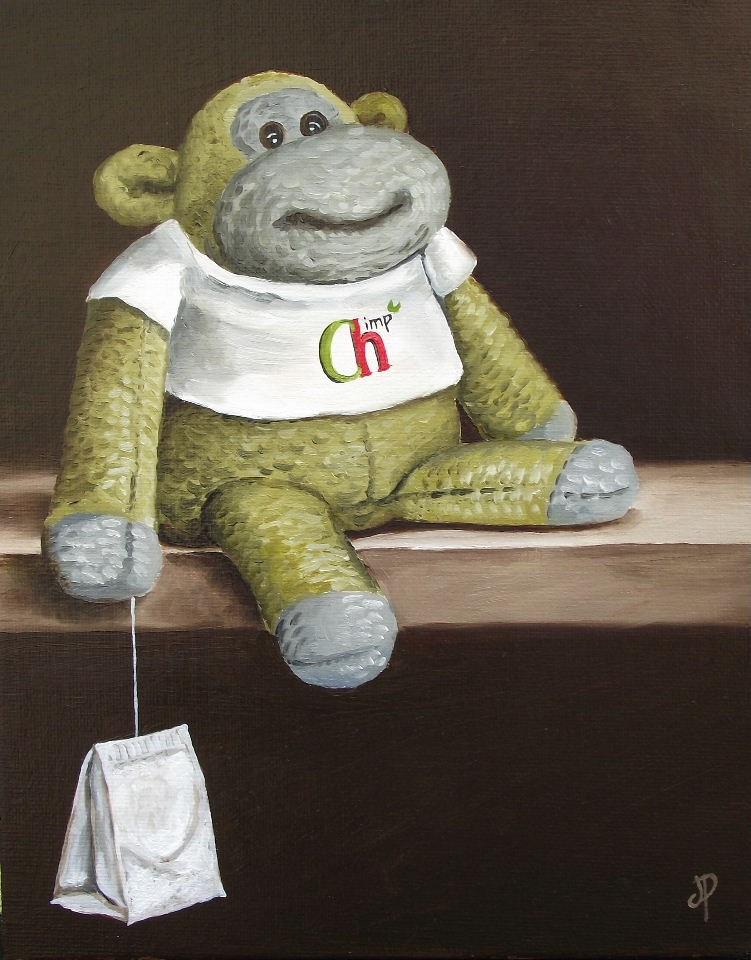 """Monkey"" original fine art by Jane Palmer"