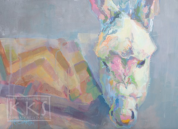 """Louie"" original fine art by Kimberly Santini"