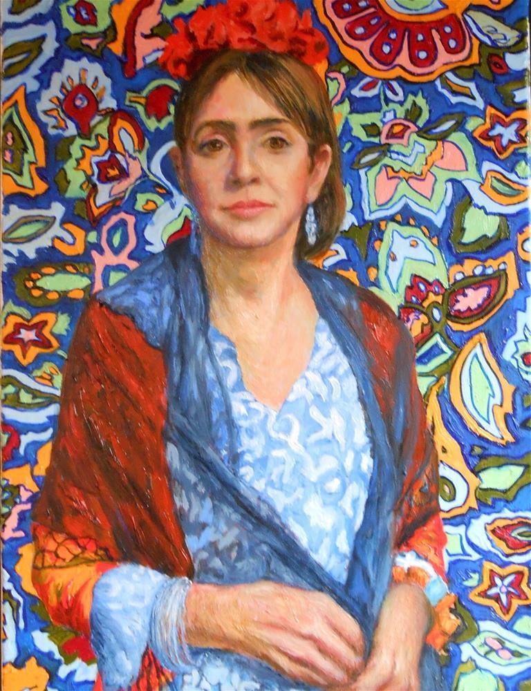 """""""Masquerade (Glenda as Frida)"""" original fine art by barbara yongue"""