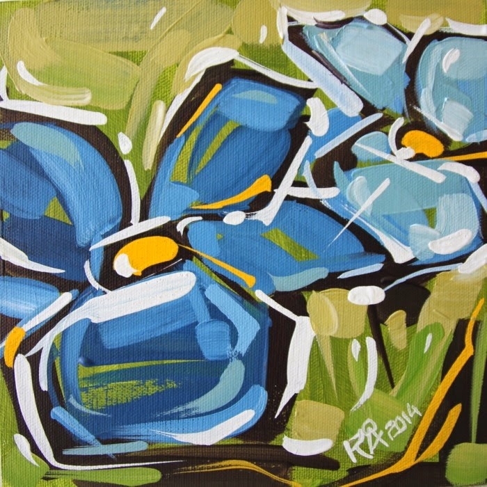 """""""Flower Abstraction 80"""" original fine art by Roger Akesson"""