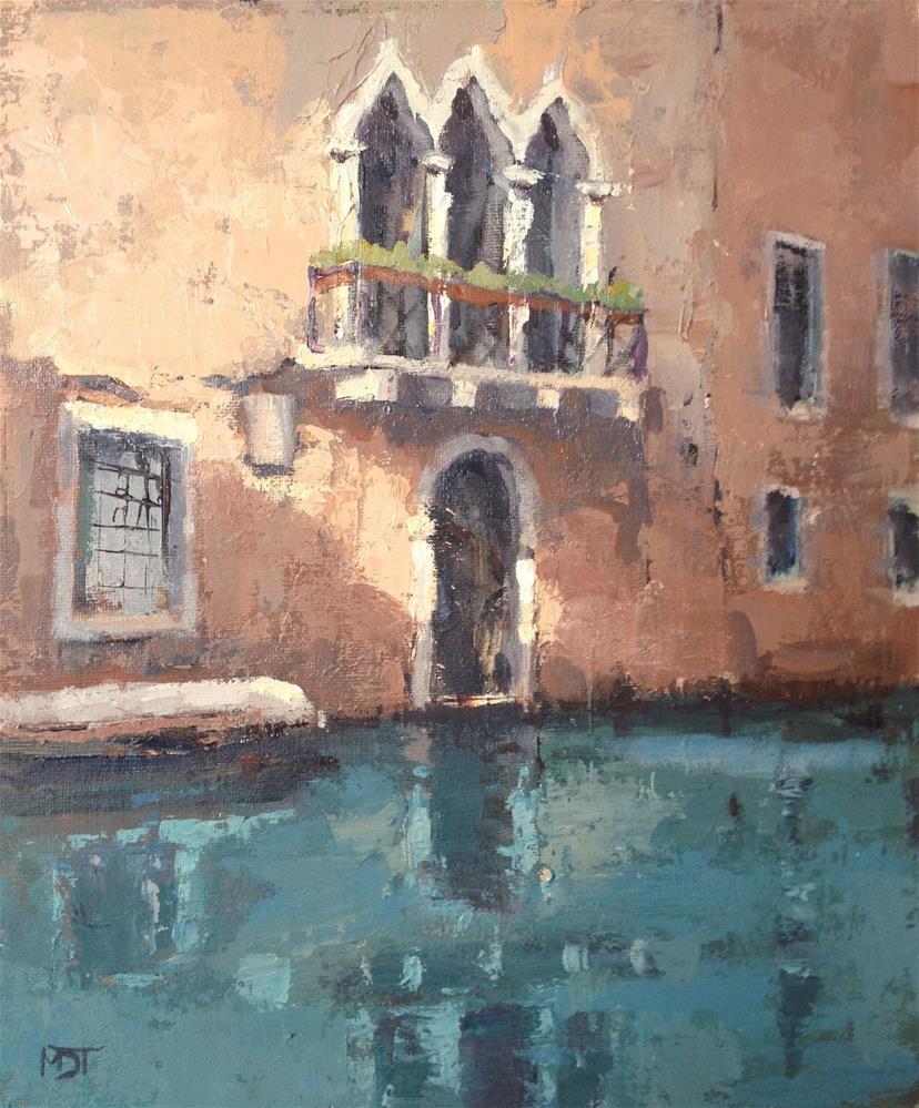 """Venice Balcony"" original fine art by Mo Teeuw"