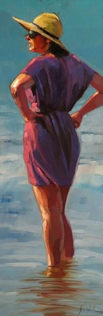 """Cooling Her Heels"" original fine art by Karin Jurick"