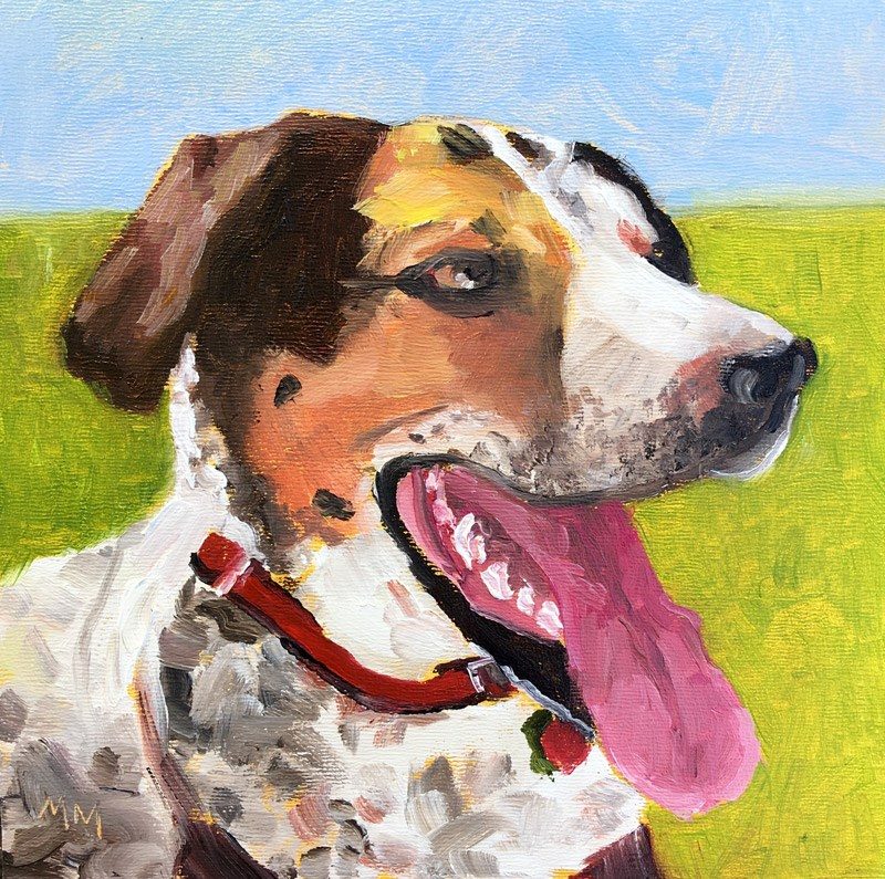 """Waylon"" original fine art by Maria McNitt"