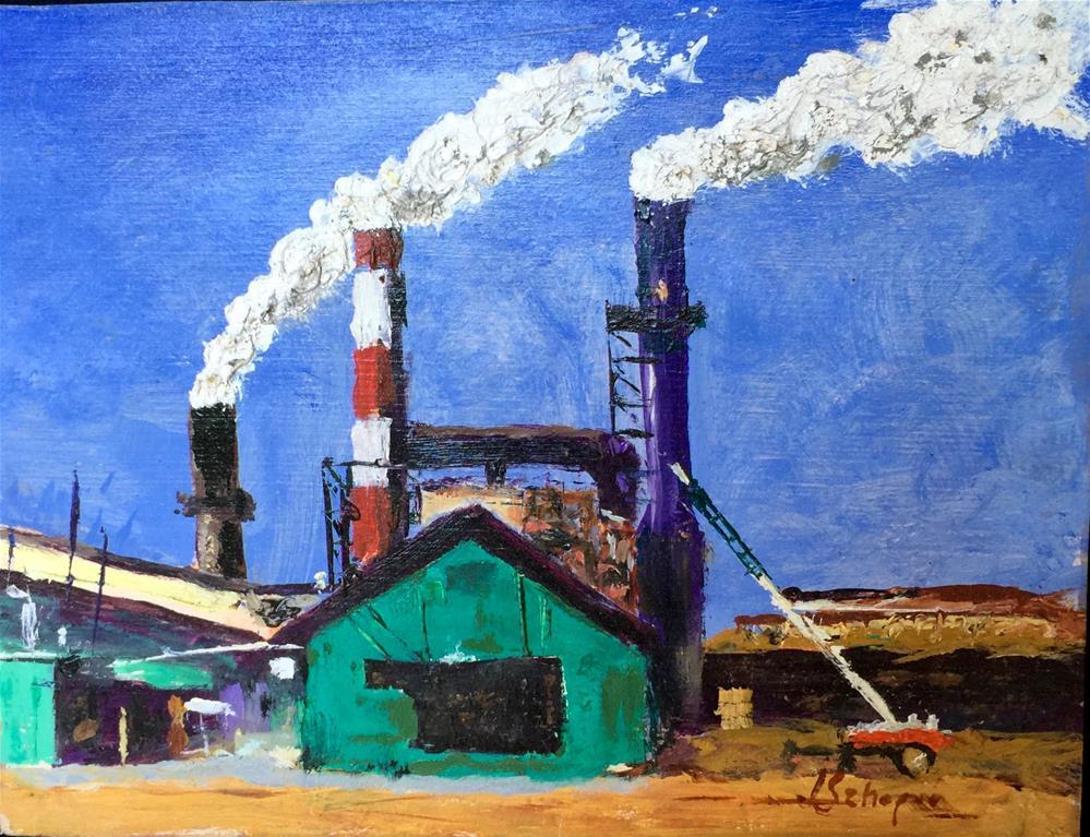 """""""East side of the Mill"""" original fine art by Joseph Schopen"""