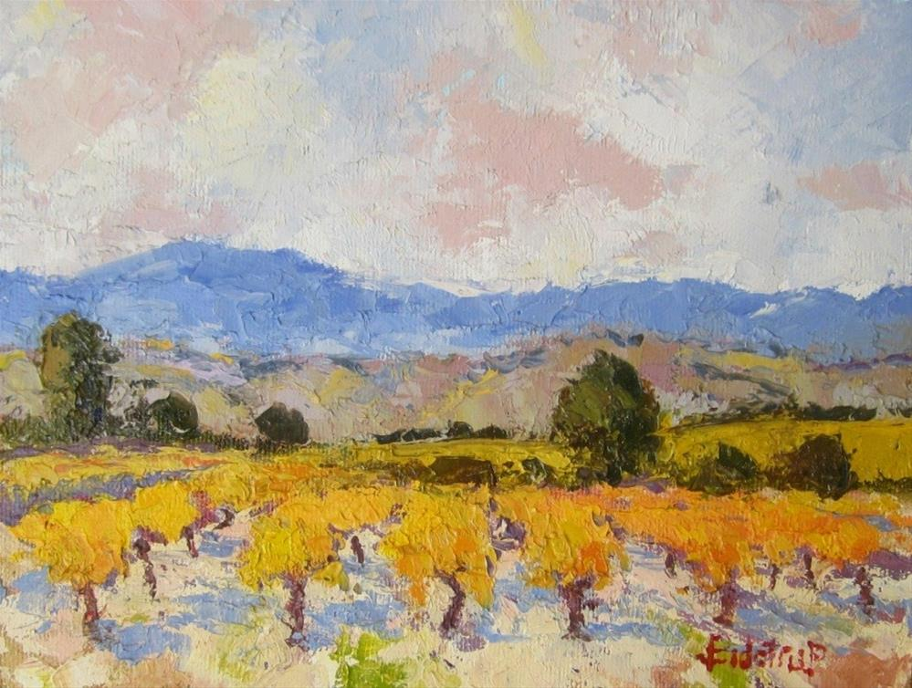 """""""Vineyard in Autumn"""" original fine art by Mark Bidstrup"""