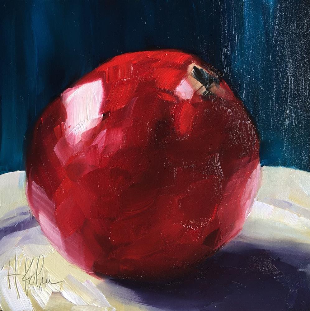 """Pomegranate"" original fine art by Hallie Kohn"
