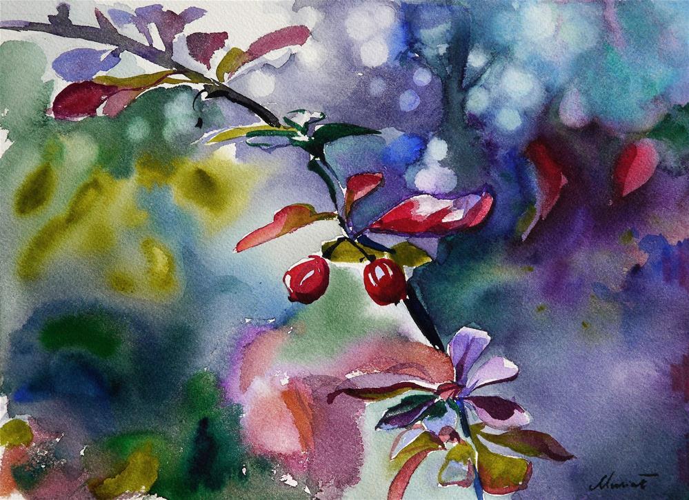 """barberry"" original fine art by Beata Musial-Tomaszewska"
