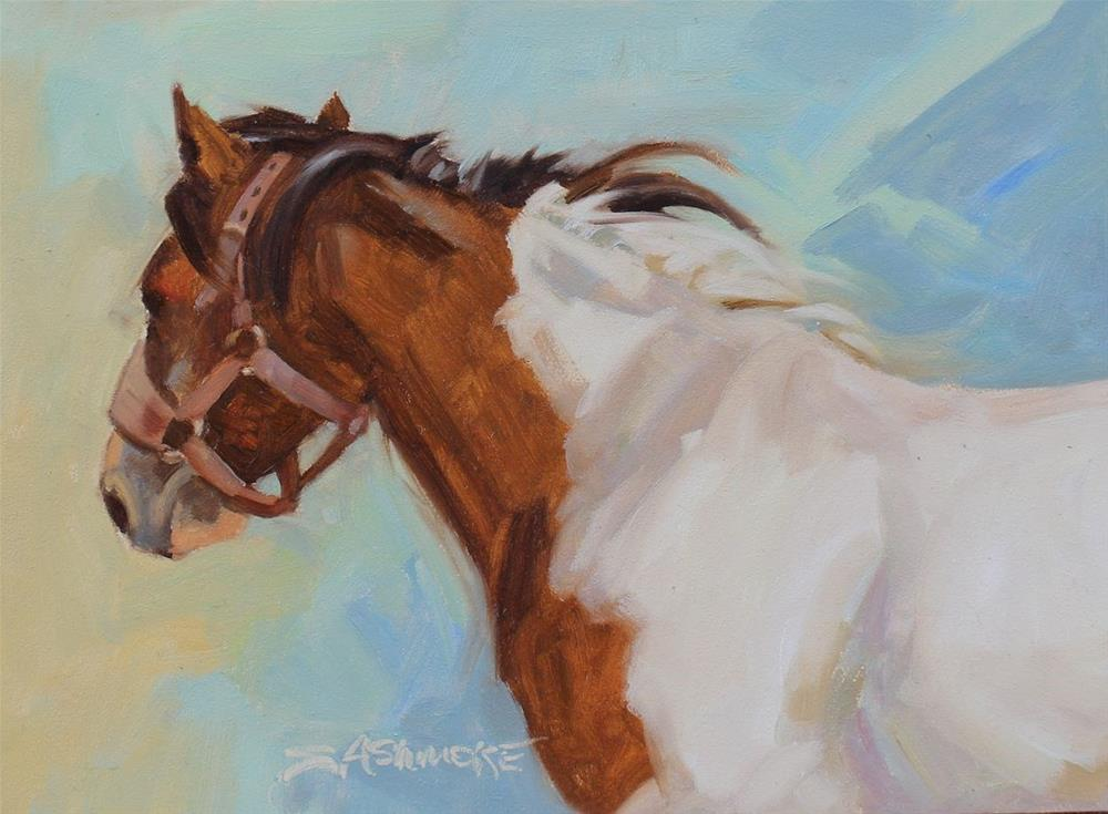 """Painted Bronc"" original fine art by Susan Ashmore"