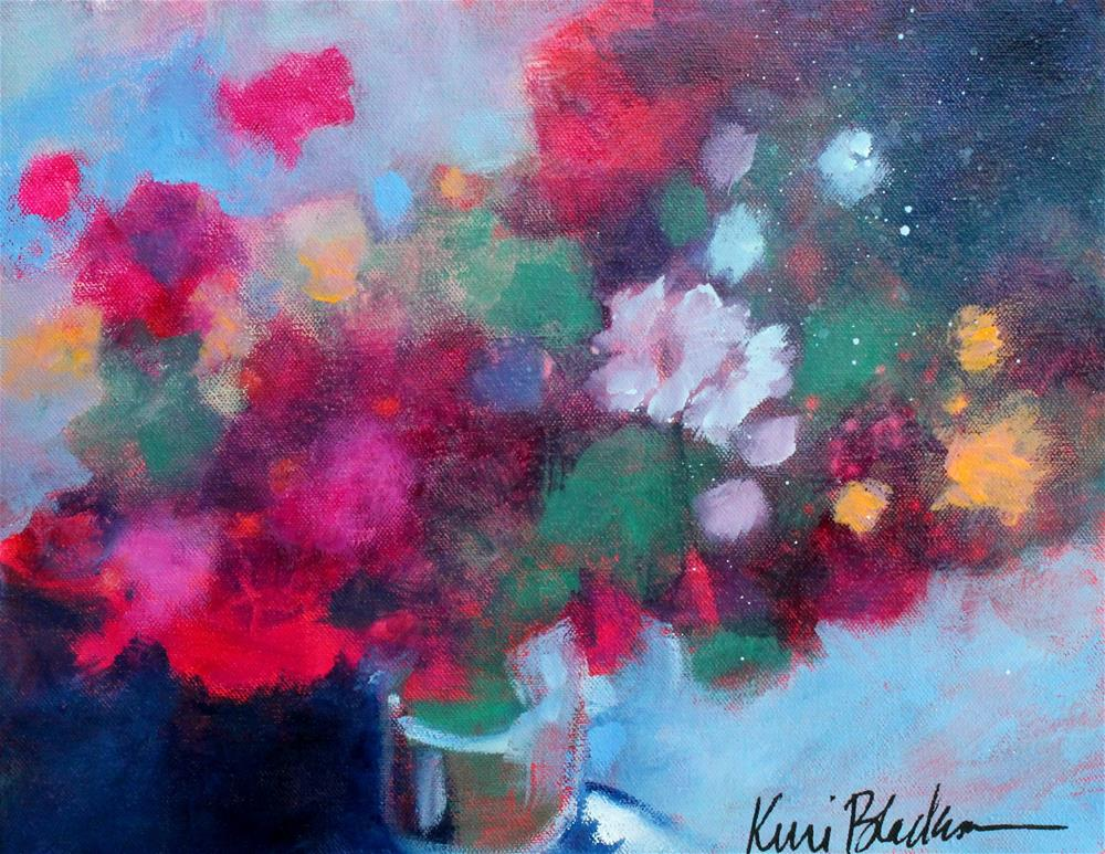 """Evening Flowers "" original fine art by Kerri Blackman"