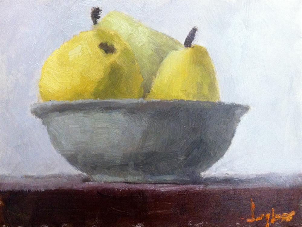 """Bowl of bartletts"" original fine art by Richard Jones"