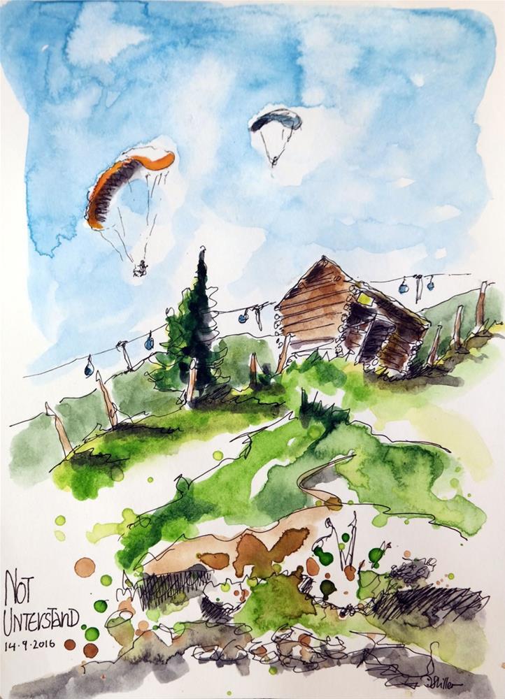 """""""1855 Alm-Sketching-Hiking"""" original fine art by Dietmar Stiller"""