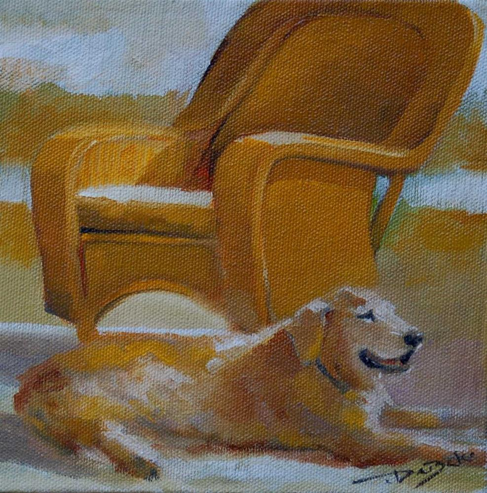 """The Chair Challenge"" original fine art by V. DeBak"