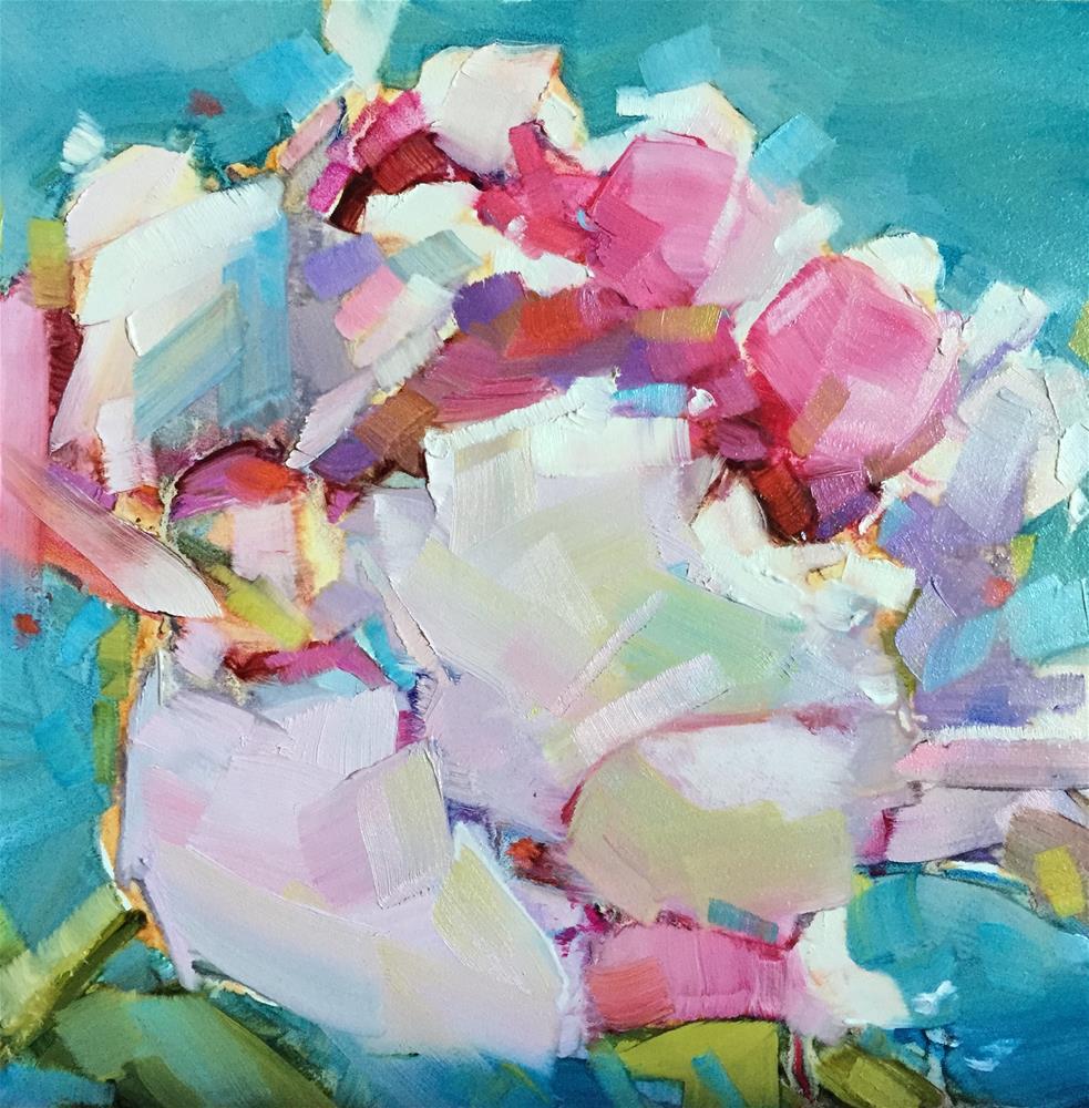 """Peony Jewel"" original fine art by Kathleen Broaderick"