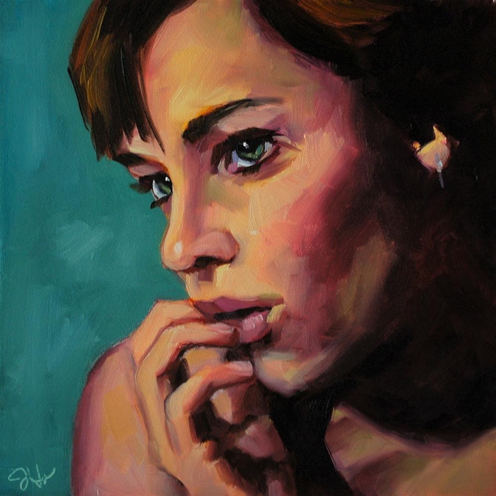 """Doubt"" original fine art by Janette Harter"