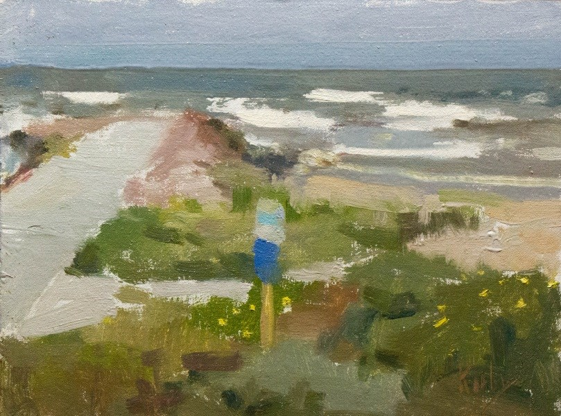 """Beach Path"" original fine art by Randall Cogburn"