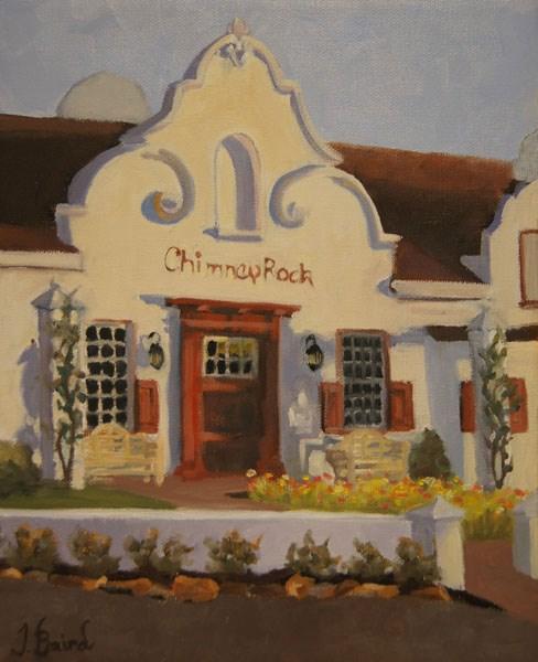 """""""Chimney Rock Winery"""" original fine art by Jeanette Baird"""