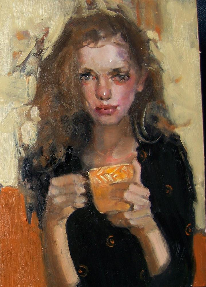 """Tea"" original fine art by Kim Roberti"