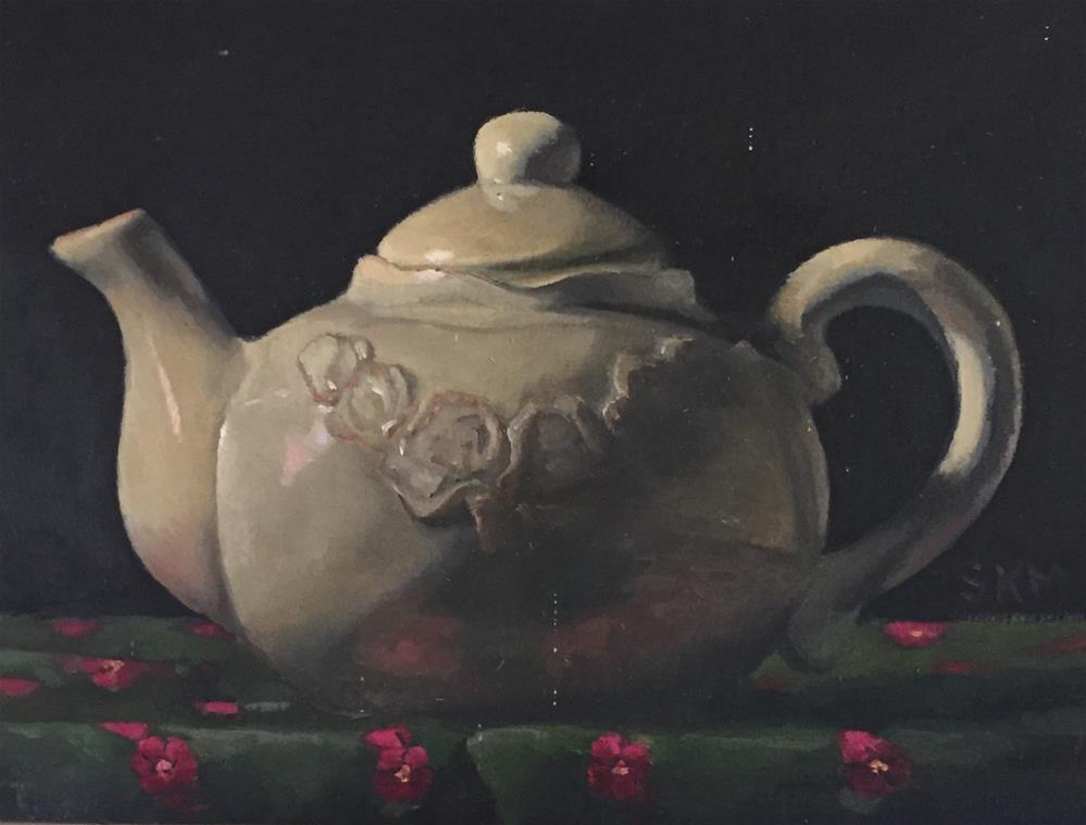 """French teapot"" original fine art by Sarah Meredith"