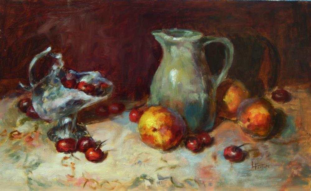 """Fruitful Impressions"" original fine art by Lina Ferrara"
