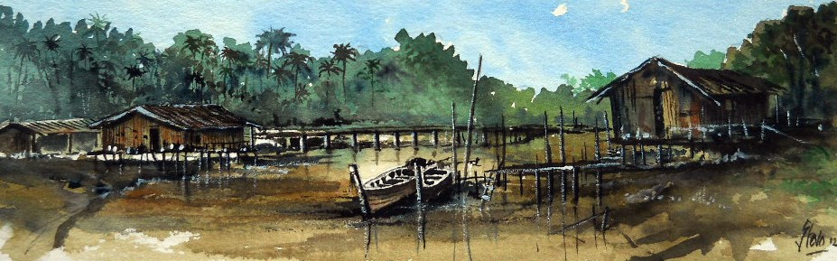 """The Inlet"" original fine art by Martin Stephenson"